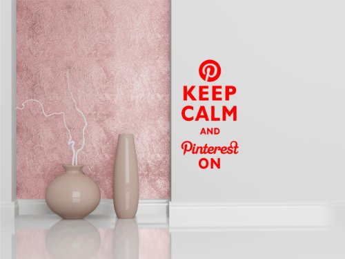 KEEP CALM AND PINTEREST ON KCCO Decal Large Mural Vinyl Wall Art Inspirational Quotes and Saying Home Decor Decal Sticker