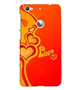 Chiraiyaa Designer Printed Premium Back Cover Case for LeTv Le 1S (boy girl friend valentine miss kiss heart) (Multicolor)