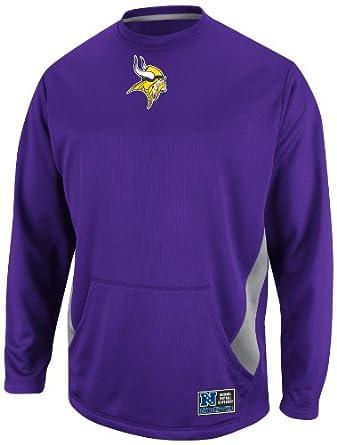 NFL Mens Minnesota Vikings Coverage Sack II Regal Purple Storm Gray Long Sleeve Crew... by VF LSG