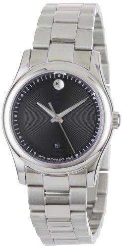 Movado Women's 0606482 Movado Sportivo Stainless-Steel Black Museum Dial Bracelet Watch