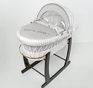 izziwotnot time to play white wicker moses basket dark. Black Bedroom Furniture Sets. Home Design Ideas