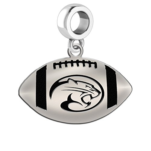 Houston Cougars Sterling Silver Football Cut Out Drop Charm Fits All European Style Charm Bracelets