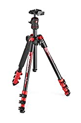 Manfrotto MKBFRA4R-BH Befree compact lightweight red tripod for travel photography with ball head