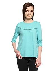 OHM A-Line Lace Embrace Top (FWOHM911_Azure Blue_Large)