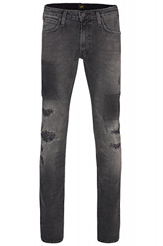 Lee Luke Slim Tapered Uomini Jeans Grigio L719JBOP, Taille:W30/L32