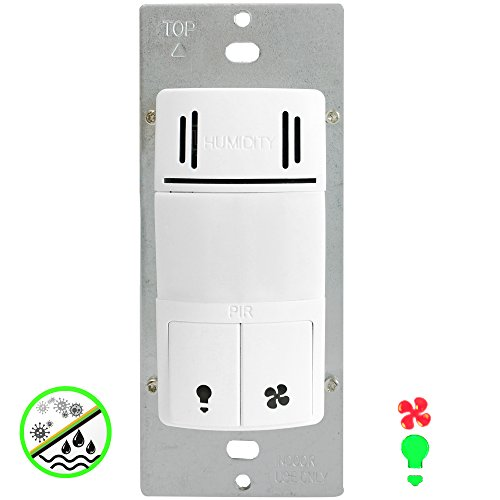 dwhos w humidity motion sensor switch for bathroom fan light