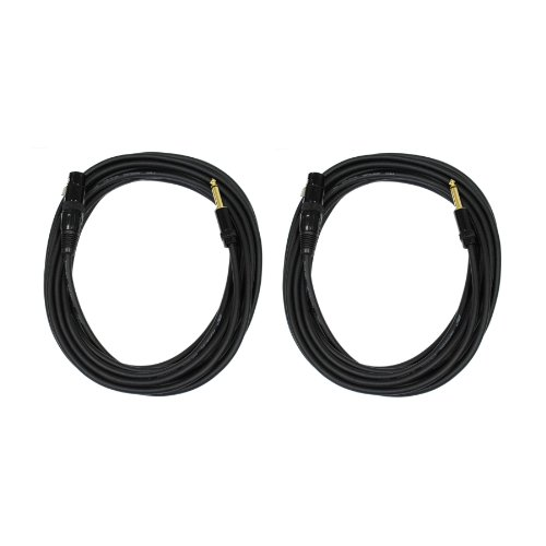 """Audio 2000S E07150P2 1/4"""" Ts To Xlr Female 50Ft Microphone Cable (2 Pack)"""