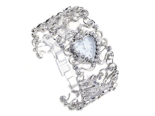 imixlot Silvery Crystal Rhinestone Watch Bangle