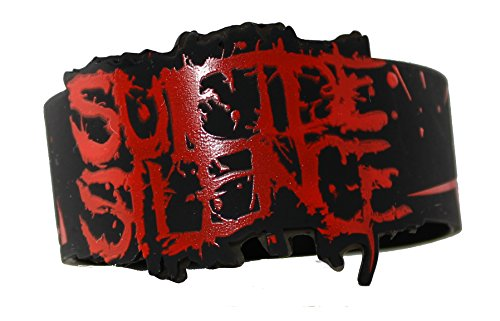 Licenses Products Suicide Silence Logo Rubber Wristband