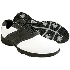 Buy New Mens Etonic Lite Tech Golf Shoes WHTE BLACK Size 11.5 WIDE - RETAIL $79.99 by Etonic
