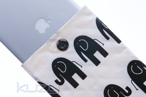 Buy  Kuzy - #68 Elephant BLACK Handmade Sleeve Cover 15-Inch for MacBook PRO 15.4