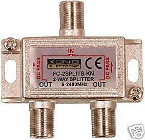 2 Way Cable Splitter for Modem Virgin Dbox
