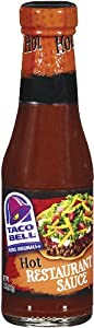 Taco Bell Restaurant Sauce Hot 75-ounce Glass Bottles Pack Of 12 by Taco Bell