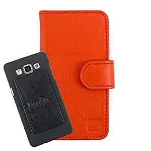 DooDa Genuine Leather Wallet Flip Case Cover With Card & ID Slots For Spice Smart FLO Pace 3 (MI-502N) - Back Cover Not Included Peel And Paste