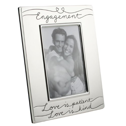 Silver Plated Engagement Photo Frame