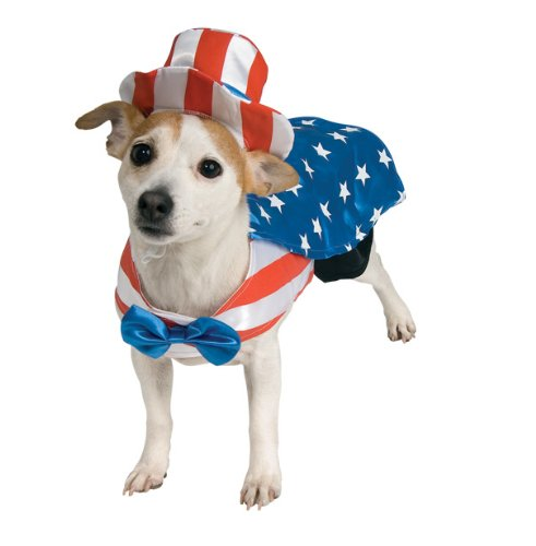 Uncle Sam Pet Costume, Medium