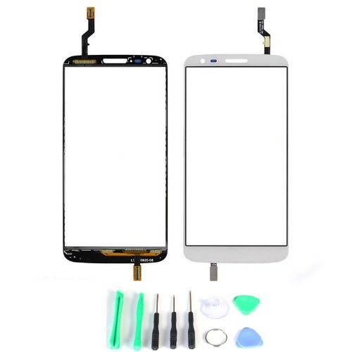 Generic Touch Screen Digitizer Outer Glass Replacement (Lcd Display Not Included) For Lg G2 D802 (White)