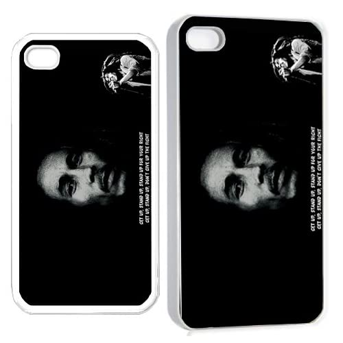 bob marley v1 iPhone Hard Case 4s White