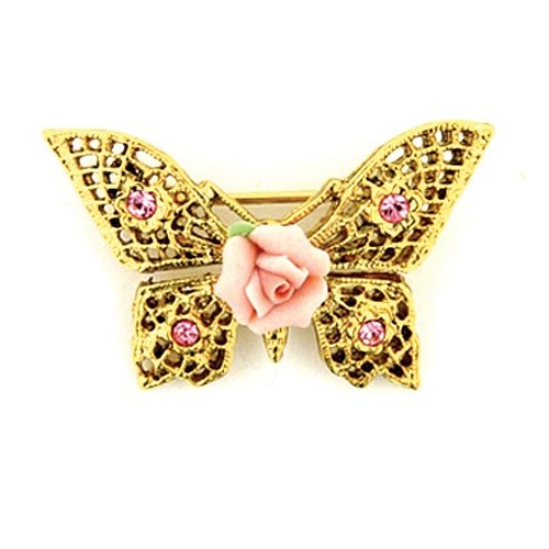 pink rose pin