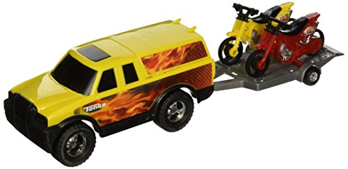Red Tonka Off-Road Adventure Set with Two Bikes (Red and Yellow) (Motorcycle Toy Trailer compare prices)