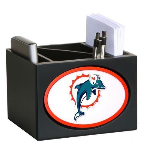 Miami Dolphins Wooden Desk Organizer Pen Holder