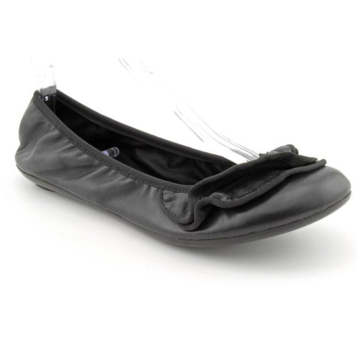Report Myca Womens Size 7 5 Black Leather Ballet Flats Shoes
