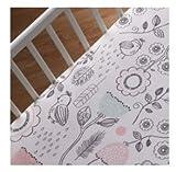 Lolli Living Sparrow 4 Piece Crib Set, Grey/Pink/Turquoise/White