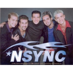 'N Sync Christmas Bumper Sticker