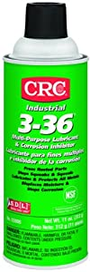 CRC 3-36 Multi-Purpose Lubricant and Corrosion Inhibitor, 11 oz Aerosol Can, Clear/Blue/Green by CRC Industries