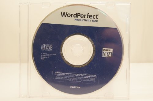 Corel Wordperfect Productivity Oem Pc Computer Software Program 2004 With Key Code Part Number P/N 980298 P/N Jb#0030-189 P/N H6799