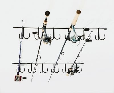 Rackem Overhead Fishing Rod Rack 12-piece Black from RACK'EM