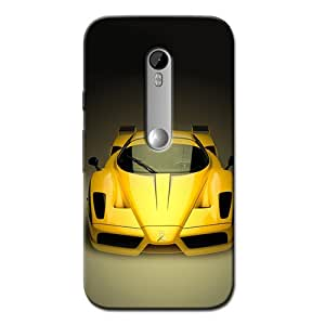 YELLOW CAR BACK COVER FOR MOTOROLA MOTO G3