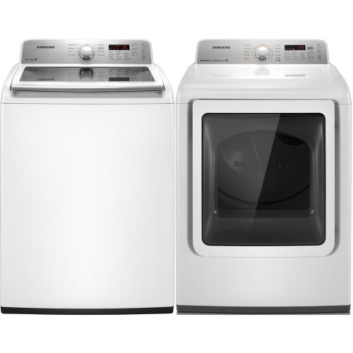 Samsung White Top Load ELECTRIC Laundry Set with PureCycle WA422PRHDWR_DV422EWHDWR