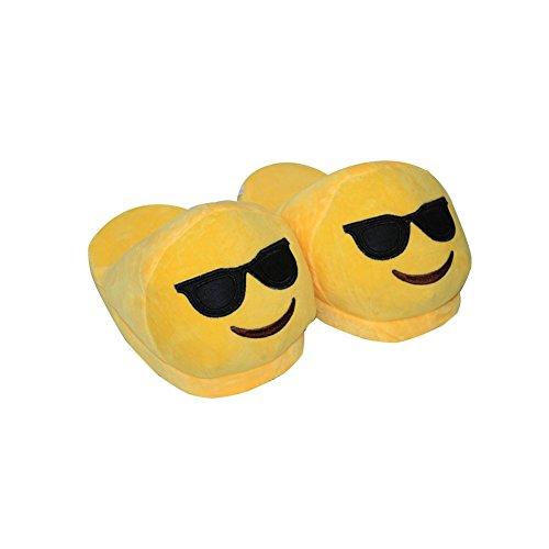 Pantofole inverno - 28 centimetri unisex Cartoon Emoji morbido peluche Interni Pantofole per donne e uomini