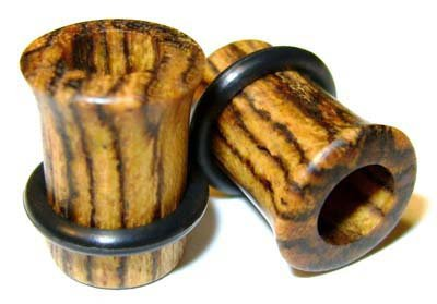 32mm Custom Bocote Single Flared Organic Wood Tunnels