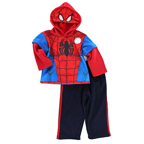 Spider-Man Boys Mask Sweatshirt and Sweatpants