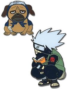 Naruto: Pins - Kakashi & Pakkun (Dog) (Set of 2)