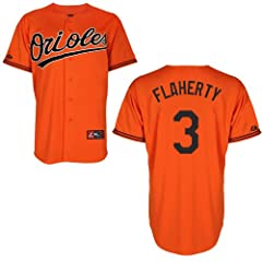 Ryan Flaherty Baltimore Orioles Alternate Orange Replica Jersey by Majestic by Majestic