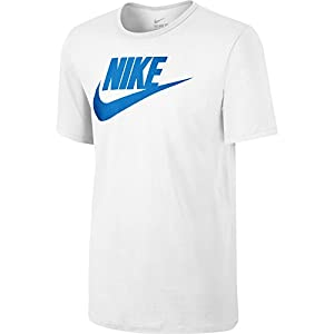 Nike tee-futura Icon - Men's T-Shirt multi-coloured Blanco / Azul (White/White/Photo Blue) Size:XS