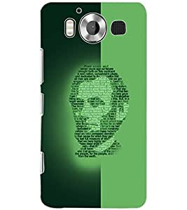 PrintDhaba FACE QUOTE D-6625 Back Case Cover for MICROSOFT LUMIA 950 (Multi-Coloured)