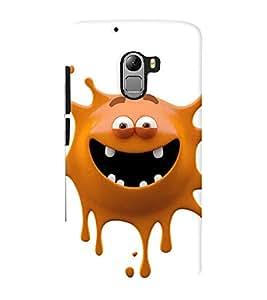 Printvisa Premium Back Cover brown monster cartoon character Design For Lenovo K4 Note