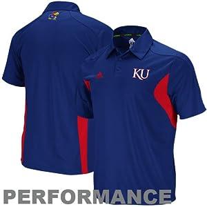 Buy Kansas Jayhawks adidas Royal Football Adizero Sideline Polo Shirt by adidas