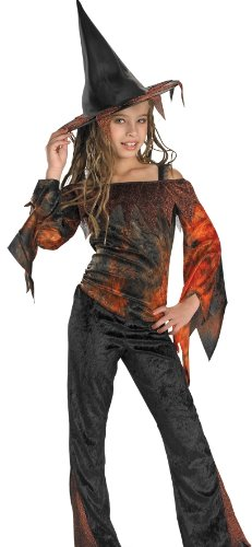 Disguise Kids Girls Tie Dye Witch Halloween Costume