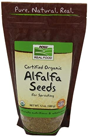 Now Foods Organic Alfalfa Seeds, 12-Ounce