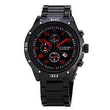 New Luxury Curren Black Steel Date Master Water Resist Sports Men Quartz Watch 8021