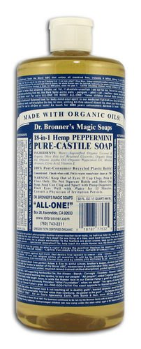 Dr Bronner Hemp Peppermint Pure Castile Soap Or