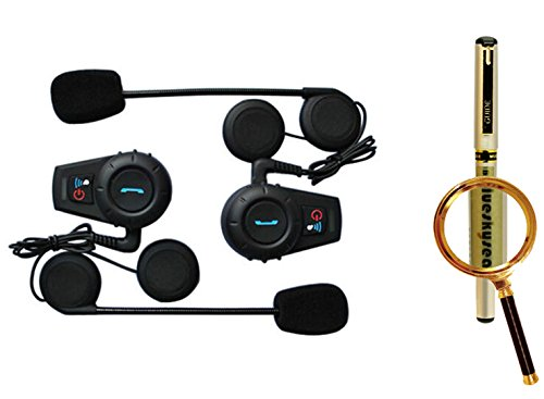 Blueskysea Free Gift Gel Pen + 2X500M Motorcycle Bt Bluetooth Multi Interphone Headset Helmet Intercom Handfree