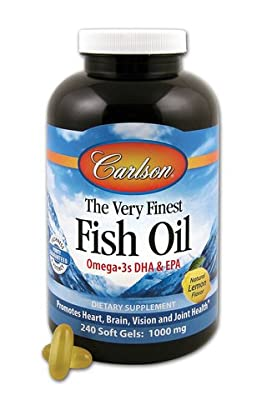 Carlson Labs Very Finest Fish Oil, Lemon, 1000mg