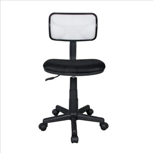 RTA Products Techni Mobili Mesh Task Chair, White