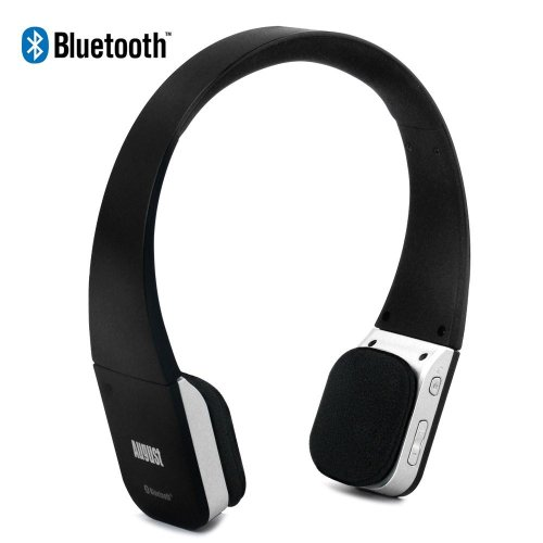 August Ep630 Bluetooth Wireless Stereo Headphones - Soft Cushioned Headset With Built-In Microphone And Rechargeable Battery - Compatible With Cell Phones, Iphone, Ipad, Laptops, Tablets, Smartphones Etc.